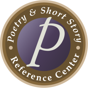 "Poetry and Short Story Reference Center logo with a ""P"" in the center"