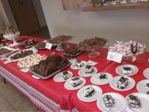 Chocolate selections on display table