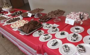 Chocolate selections on display table